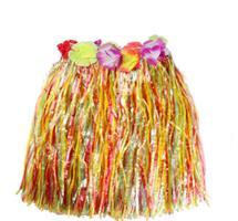 Hawaii Hula Skjørt 40 cm Flerfarge