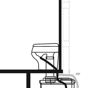 Ekovessa Ev 400 muovi-istuimella SEP / ECOSEP
