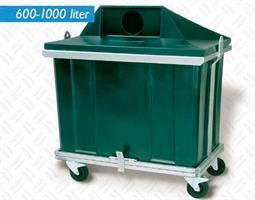 Spesialcontainer på hjul 1000 liter