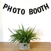 Photobooth bokstav banner