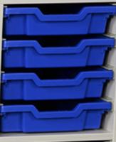 Plastback / Låg, Blå