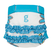 gDiapers gDiapers Girly Twirly Blue gPants XL