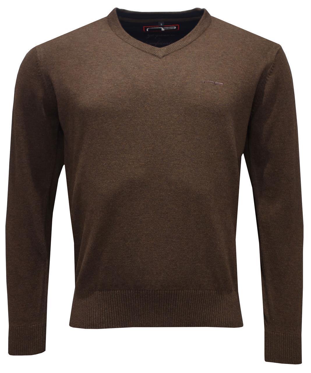 V -neck 1670 M Brown S