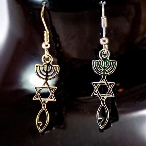 Øredobber - Messiansk symbol - Gullfarget
