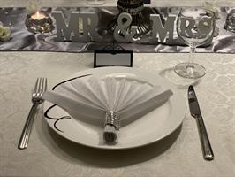 Bryllup Sølv, Kvit og Svart