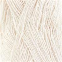 Baby alpaca silk - hvit, 50 gr