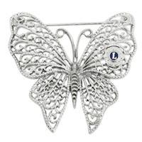 G1611 - Brosch fjäril silver