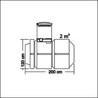 RAITA 2000 tank D1200H2000