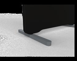 T-fot Blade grå, ställbar 415 mm