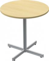 Café runt gästbord vit med krysstativ Ø 70 cm