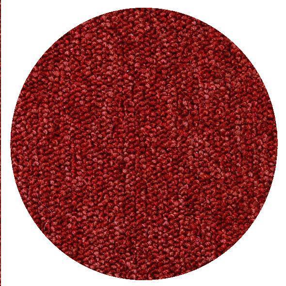 Montessorimatta öglerad Ø 150 cm Röd