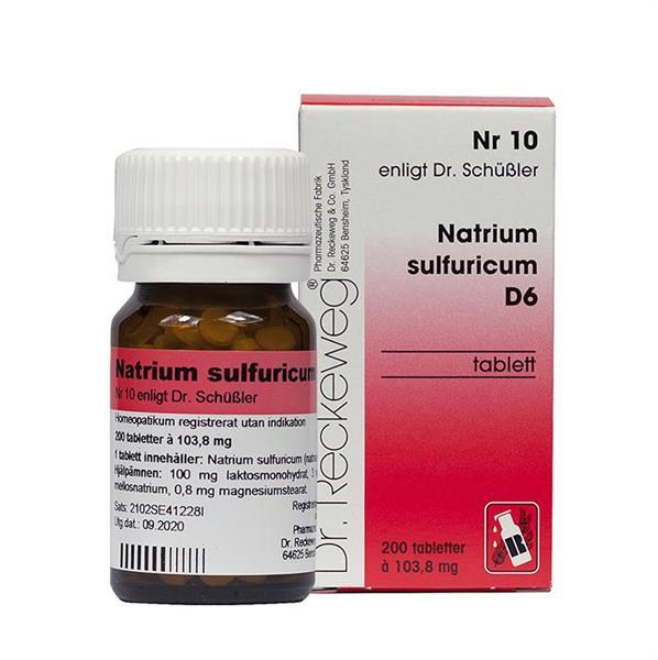 Nr.10 Natrium sulf.D6 200t