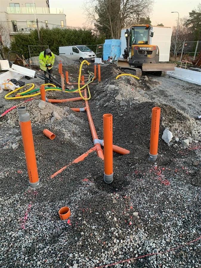 Husgrund betongplatta Lidingö