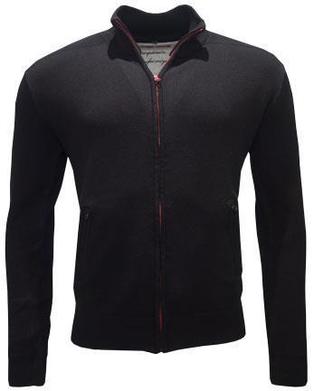 1850 Zip Cardigan Black S