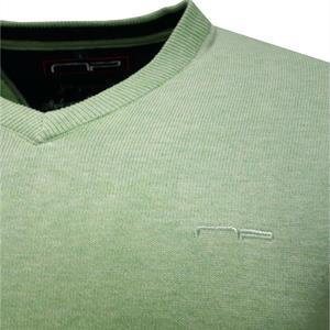 V -neck 1670 Mel Pine Green M