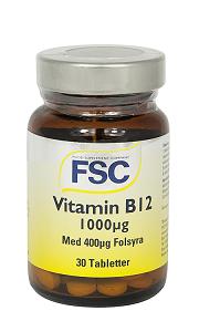 B12 1000µg+folsyra 30kaps.FSC