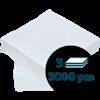 Lautasliina 24x24cm 1/4 3-k valkoinen  3000kpl