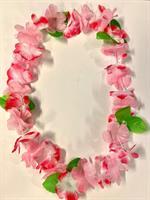 Hawaii Krans Lys rosa og grønn