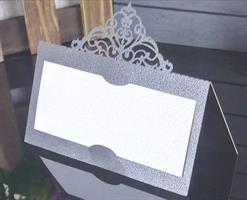 25 stk  Bordkort sølv