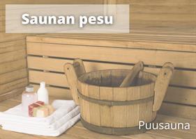Puusaunan pesu (3-5hlö)
