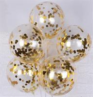 Konfetti ballong Gull 6 stk