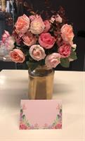 12 stk Bordkort Sommer Rose