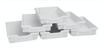 Plastback/låg vita 6st