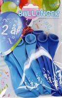 Tinka ballonger 8 pk 2 år Blå