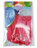 Tinka ballonger 8 pk 1 år Rosa