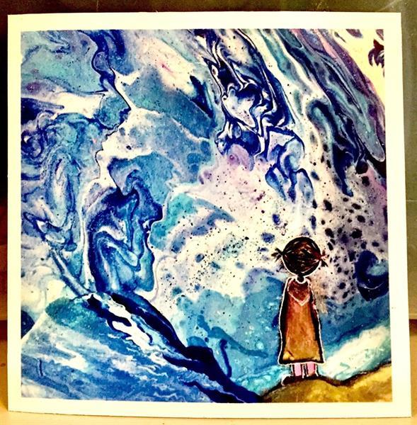 """Magnet """"Lilla modig, blå"""""""