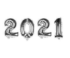 2021 Folie ballong - Sølv farge