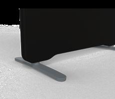 T-fot Arc grå, ställbar 360 mm