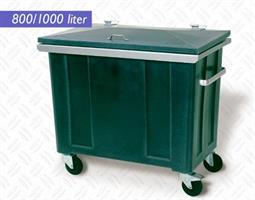 Forsterket avfallsbeholder 1000 liter