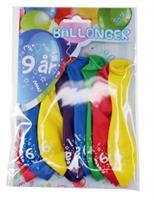 Tinka ballonger 8 pk 9 år Flerfarge