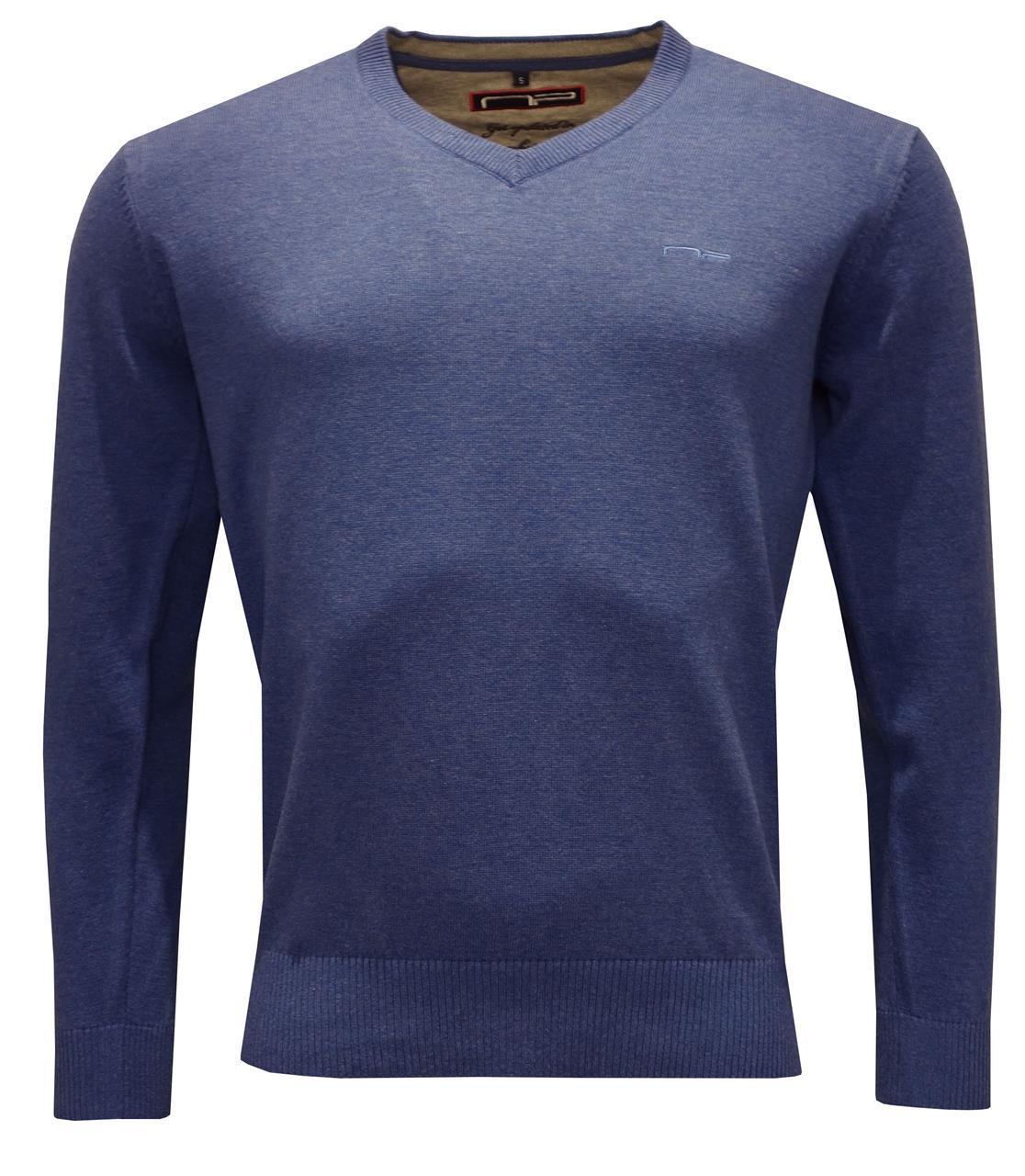 V -neck 1670 Blue Melange M