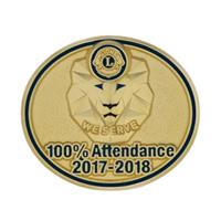 100% ATTENDANCE PIN 2017-2018