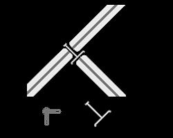 Edge 3-vägsfäste T, kopplar 3 Edge-1fot
