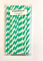 Papirsugerør Blågrønn og hvit