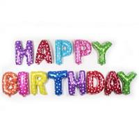 Folie - Happy Birthday / multicolor