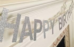 Sølv HAPPY BIRTHDAY Banner