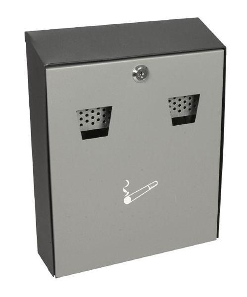 Askebeger, klar for veggmontering, brannsikker, metall indre beholder, svart og grå