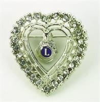 G141 - Hjärta brosch med strass
